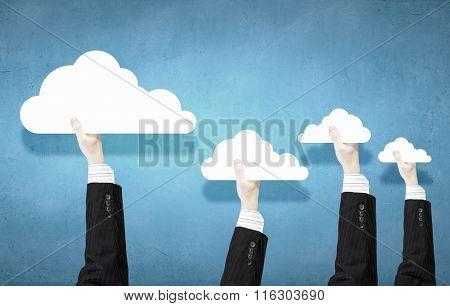 Cloud and teamwork concept