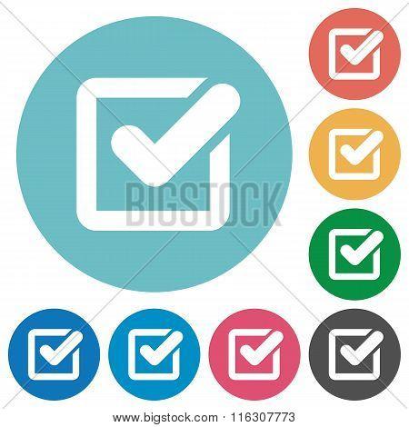 Flat Checkbox Icons
