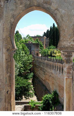 Castle battlements, Alhambra Palace.