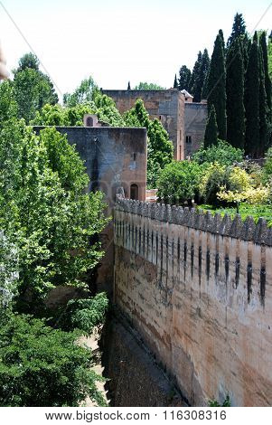 Castle walls, Alhambra Palace.