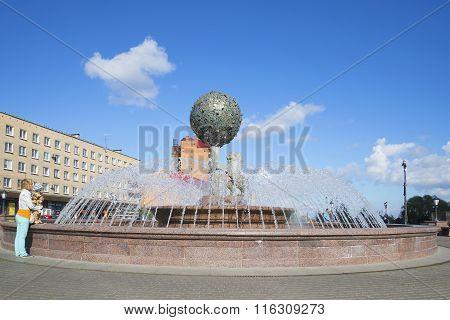At the anniversary of the fountain. Lomonosov, Leningrad Region