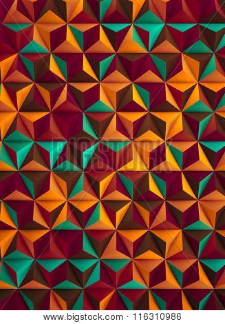 Low Poly Multicolored Abstract Background