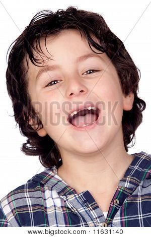Smiling Child Without Teeth