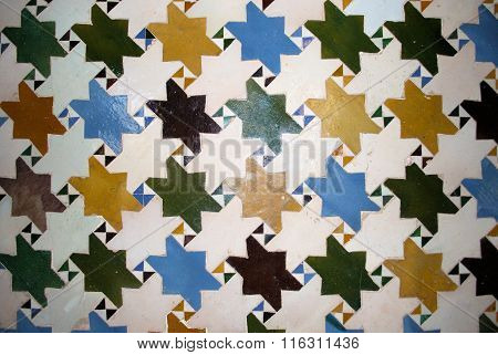 Alhambra Palace wall detail.
