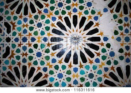 Alhambra Palace tile detail.