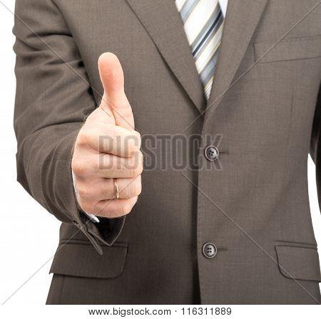 Businessman showing ok