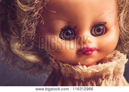 Spooky Vintage Doll Portrait