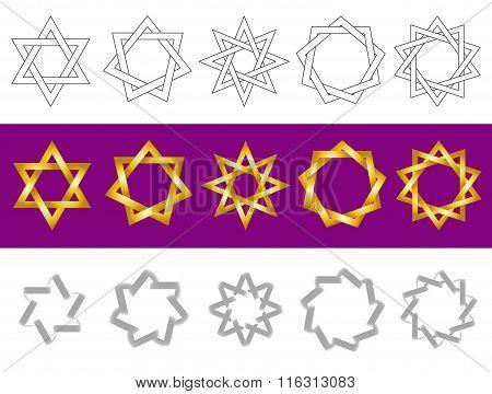Vector symbols as stars.