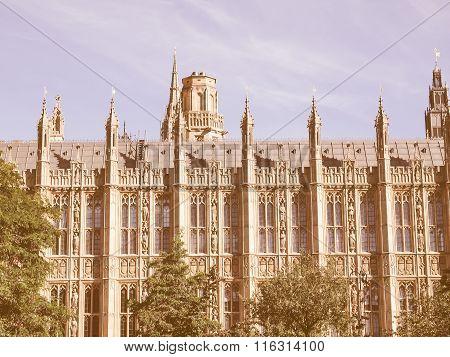 Houses Of Parliament Vintage