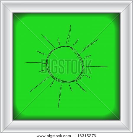 Illustration Of The Sun Shining