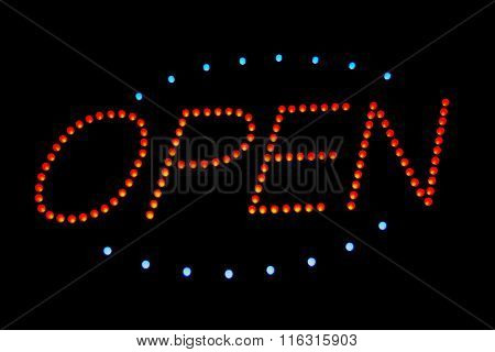 Lighting sign for open