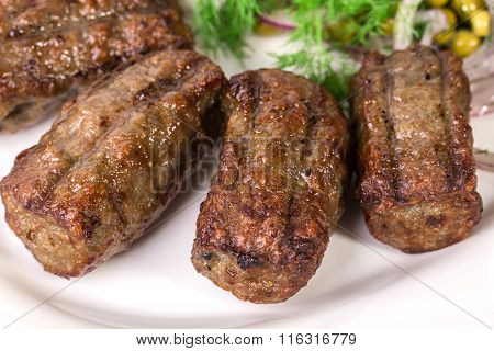Traditional moldovan grilled sausages.