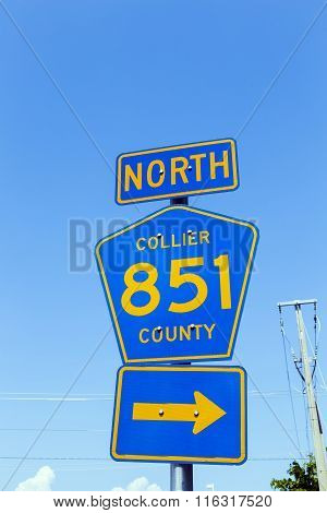 Street Sign North Collier Route 851