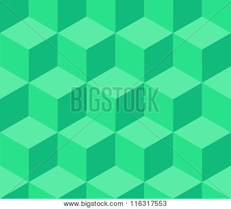 Turquoise Cubic Seamless Pattern