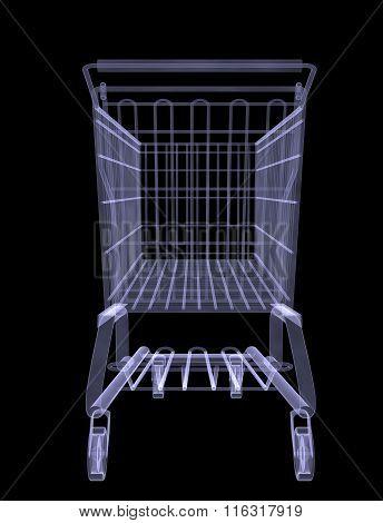 Xray of shopping cart