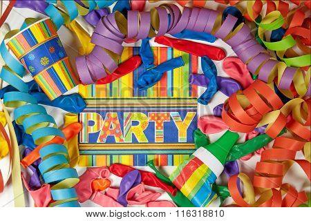 Colored Streamers And Ballons