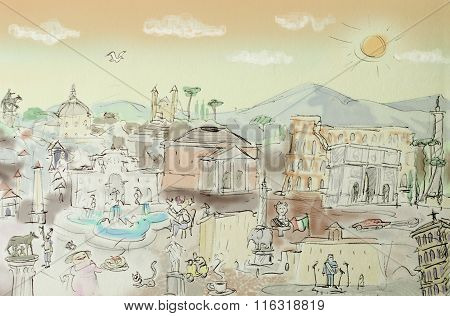 Rome Cartoon Overview