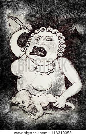 Cruel Mother Psychology Concept