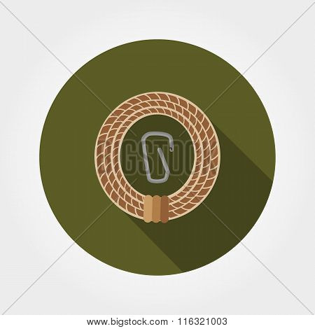 Rope with carabiner.