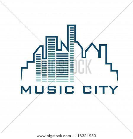 Music City Concept Vector Design Template
