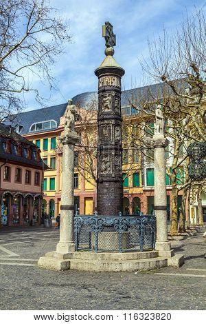 Famous Nagelsaeule In Mainz To Remember The Dead Of Ww1