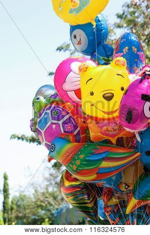 Colorful helium Balloons Cartoon