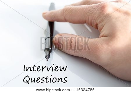 Interview Questions Text Concept