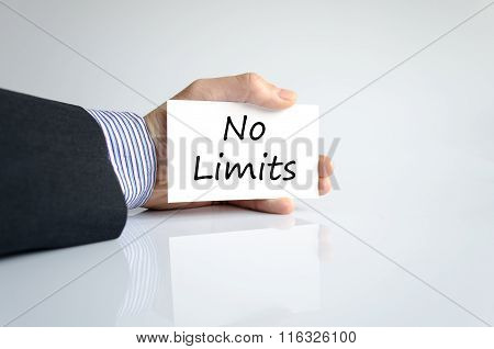 No Limits Text Concept