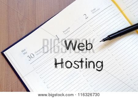 Web Hosting Write On Notebook