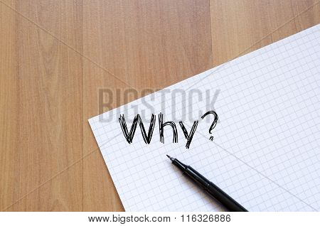 Why Write On Notebook