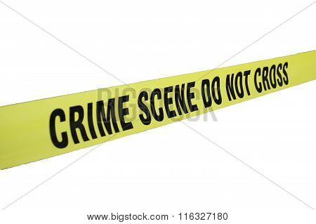 crime scene tape isolated on white background