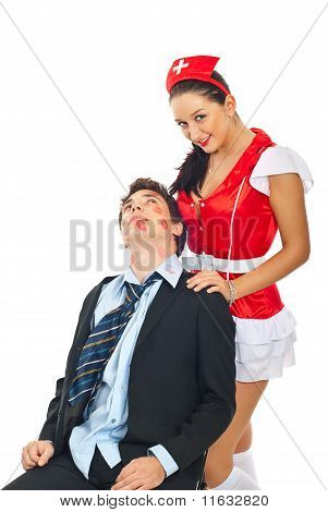 Lover Man With Naughty Nurse