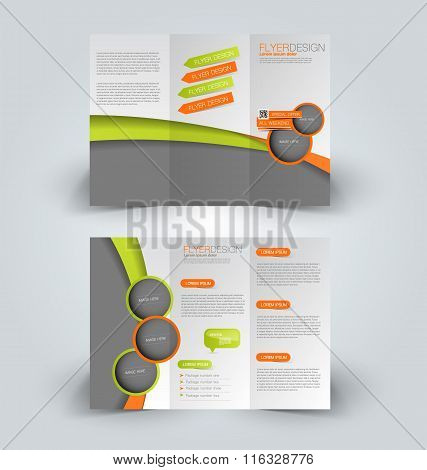 Brochure Design Template. Abstract Background. For Business, Education, Advertisement. Trifold Bookl