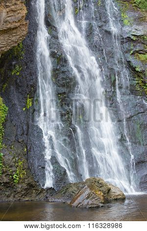 Klong Lan Waterfall In Tropical Rain Forest Of Thailand