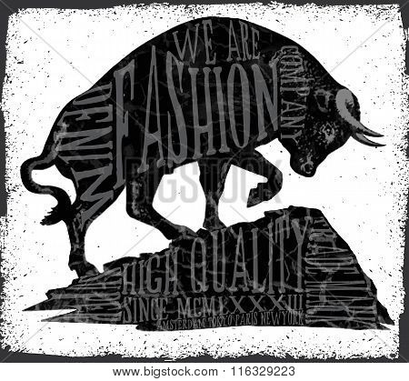 Tee Graphic Fashion Animal Vector Design