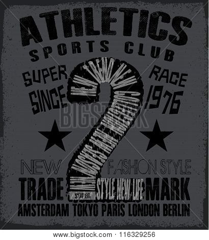 Athletic Sport Tee Graphic