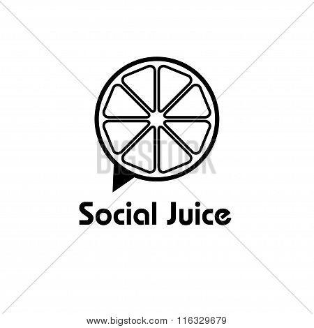 Social Juice Concept Vector Design Template