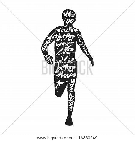 Typography lettering runner