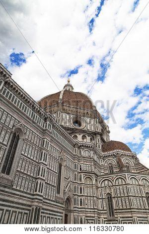 View Of Basilica Di Santa Maria Del Fiore In Florence In Italy, Europe