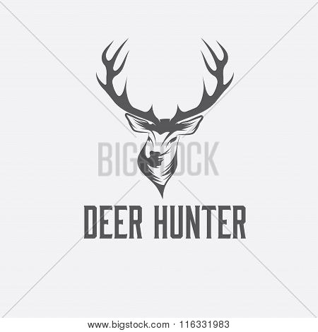Deer Hunter Vector Design Template