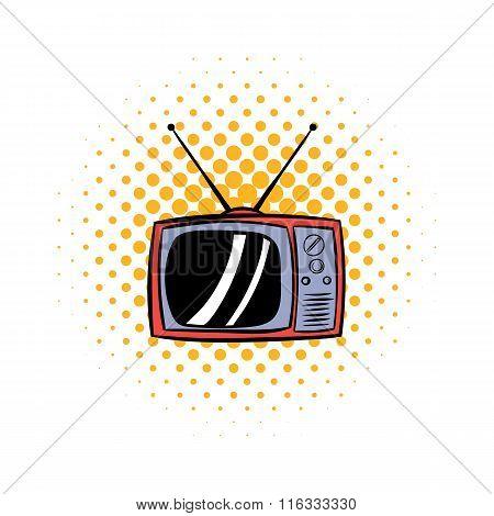 TV antenna comics icon