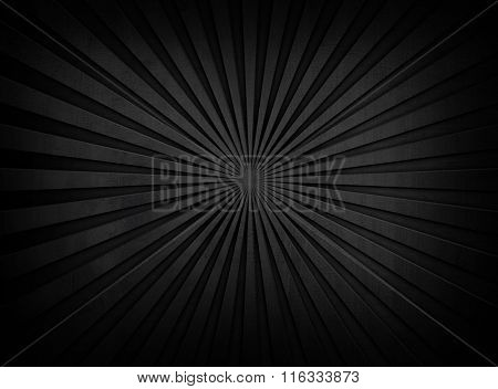 black rays pattern metal plate