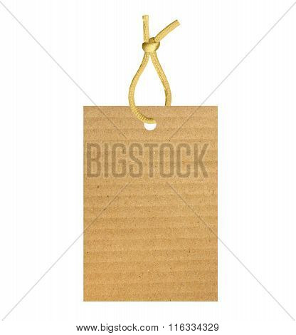 Old Paper Label Isolated On White Background
