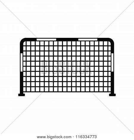 Soccer goal black, simple icon