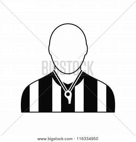 Referee black simple icon