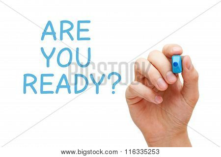 Are You Ready Blue Marker
