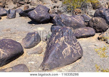 Petroglyph Site Near Gila Bend Arizona USA