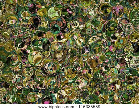 Green And Taupe Spotted Abstract Background.