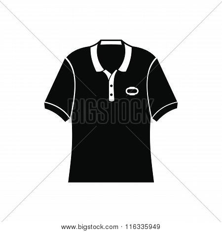Men polo shirt black simple icon