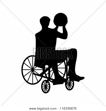 Man or woman in wheelchair silhouette